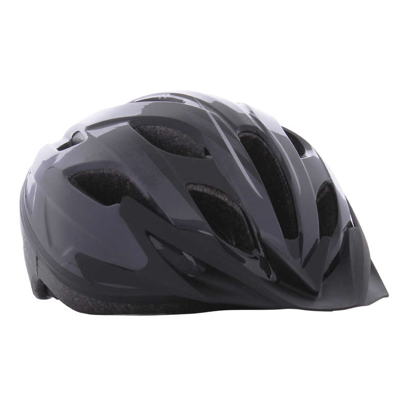 SPORT TRAIL MTB HELMETS ADULT - 100 Bike Helmet - Dark Grey ROCKRIDER