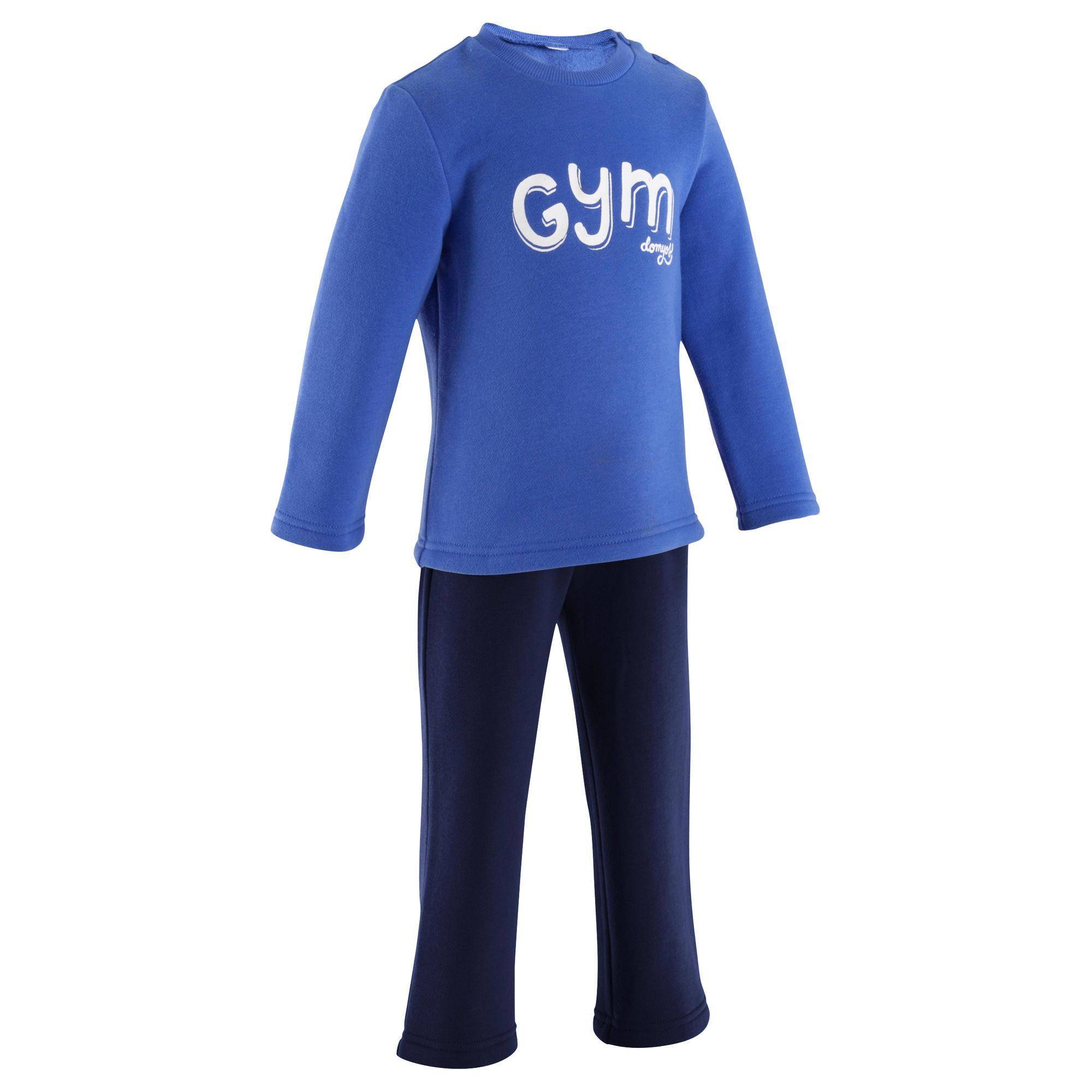 84a98e689723f Chándal fitness bebé WARM Y azul marino