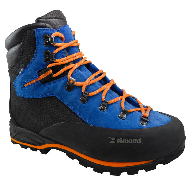 BOTY NA ALPINISMUS Alpinismus, horolezectví - BOTY ALPINISM MODRÉ SIMOND - Helmy, oblečení, obuv
