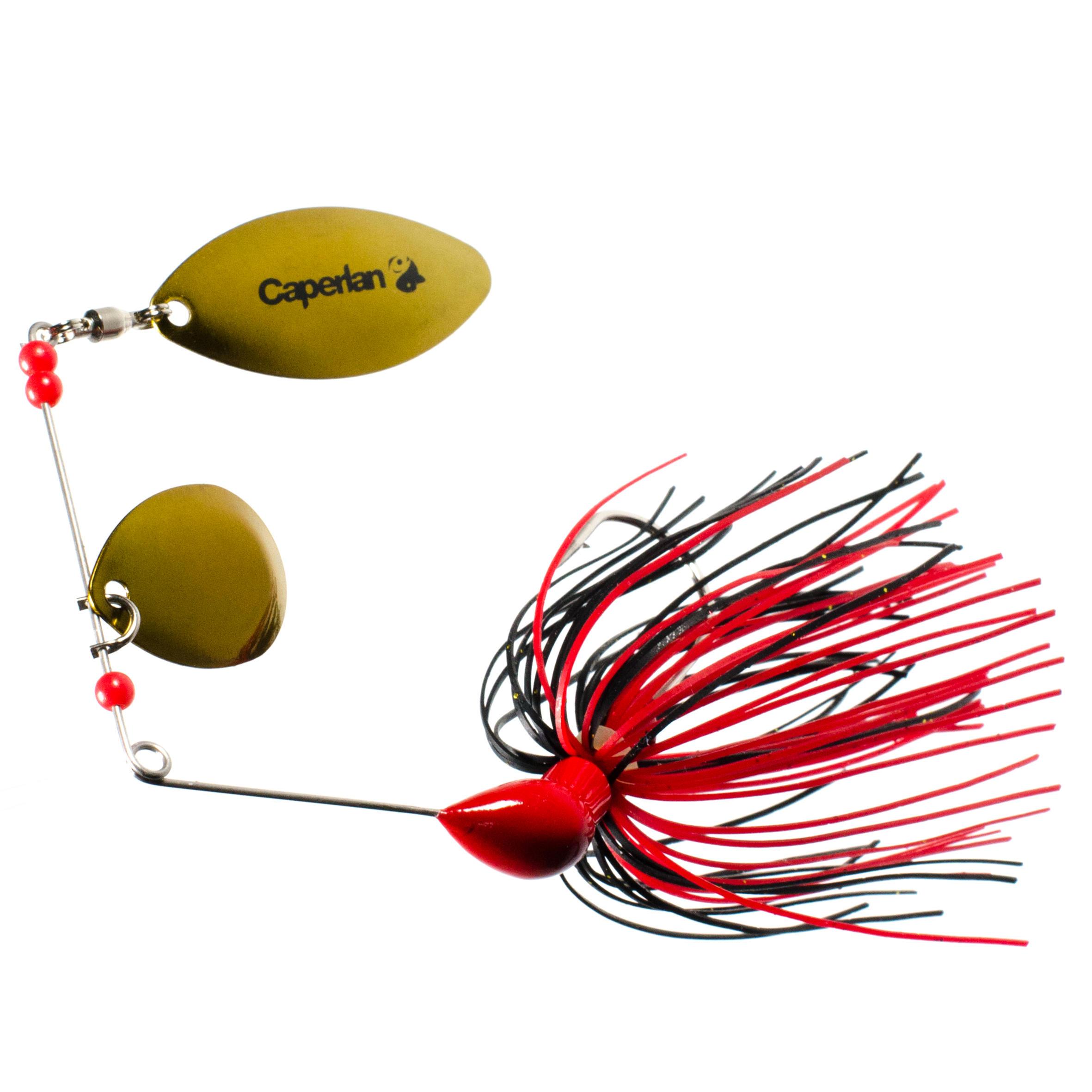 Spinner de pesca con señuelos Buckhan 3/8oz rojo / negro