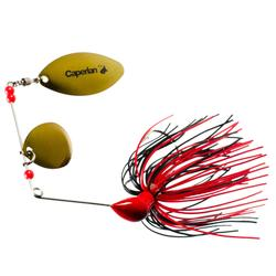Buckhan 3/8oz Lure Fishing Spinnerbait - Red/Black
