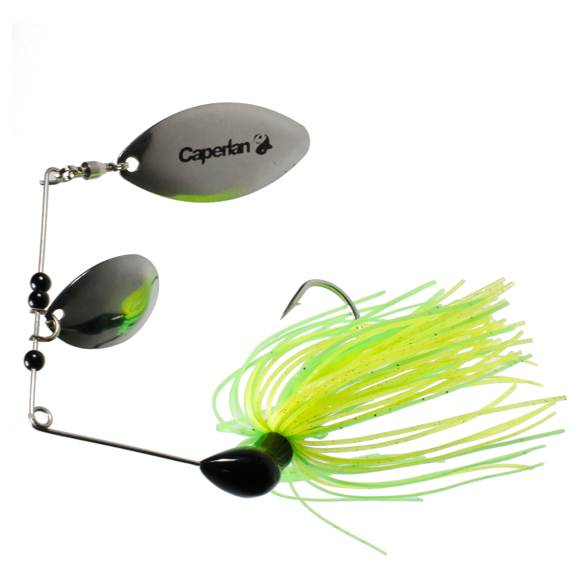 Buckhan 3/8oz Yellow/Green Lure Fishing Spinnerbait
