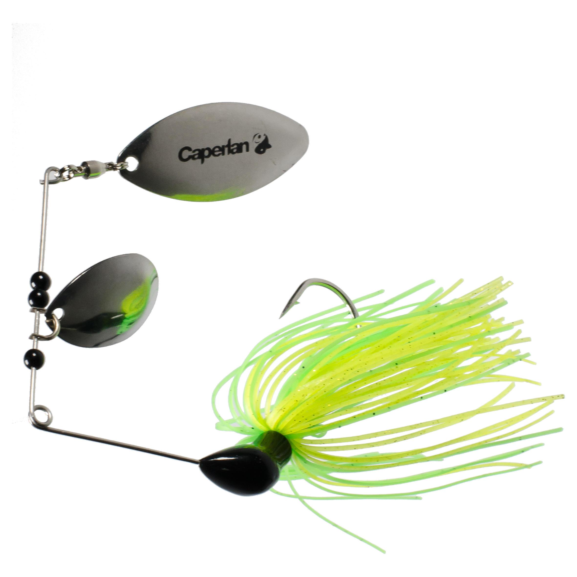 Spinner de pesca con señuelos Buckhan 3/8oz amarillo / verde