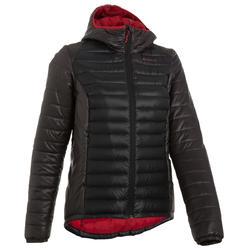 Abrigo Chaqueta plúmon Montaña y trekking Forclaz X-Light Acolchada mujer negro
