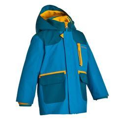 男孩款兒童3合1健行防水外套SH500-藍色