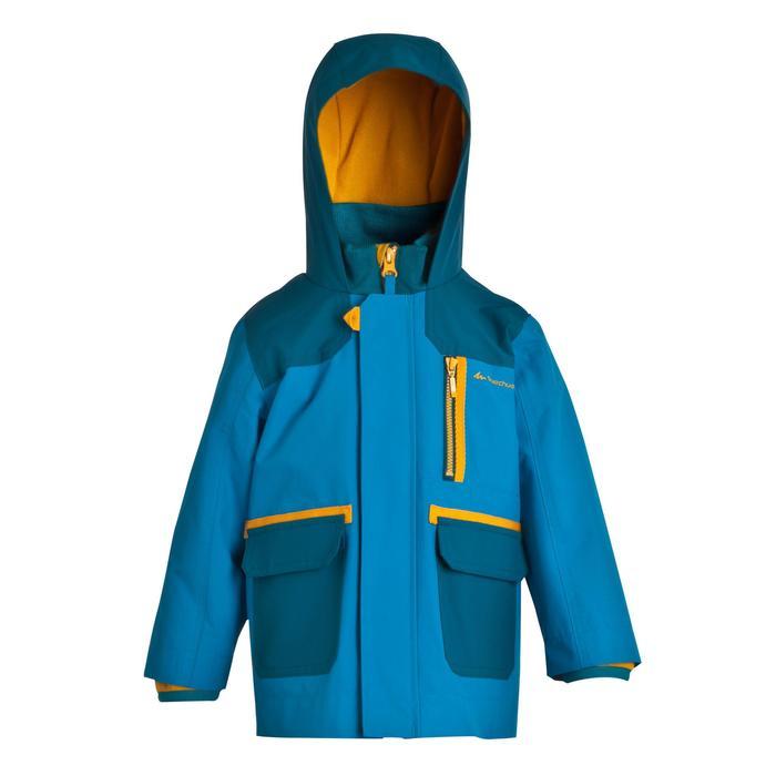 SH500 Boys' 3-in-1 CN Hiking Waterproof Jacket - Blue