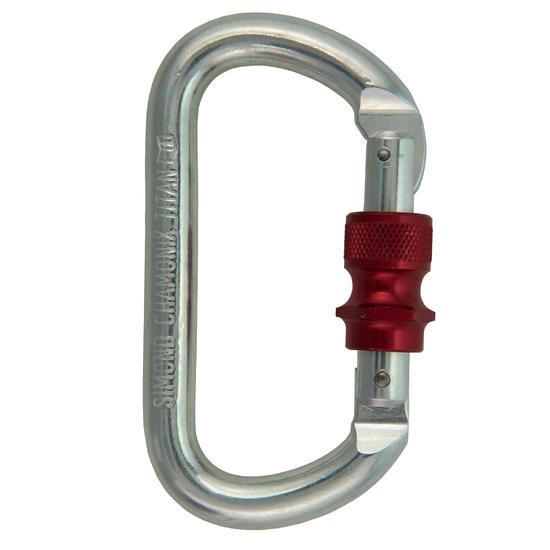 Ovalen titanium schroefkarabiner - 350868