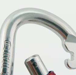 Ovalen titanium schroefkarabiner - 350874