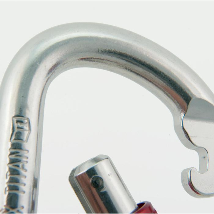 Ovalen titanium schroefkarabiner