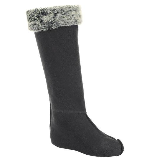 Fleece sokken voor ruiterlaarzen met randje in imitatiebont - 351201