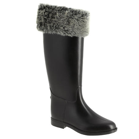 Adult Faux Fur / Fleece Horseback Riding Boot Socks
