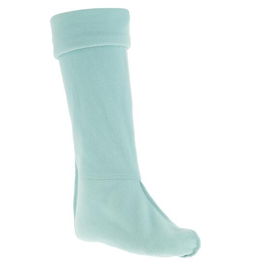 Fleece sokken voor ruiterlaarzen met randje in imitatiebont - 351213