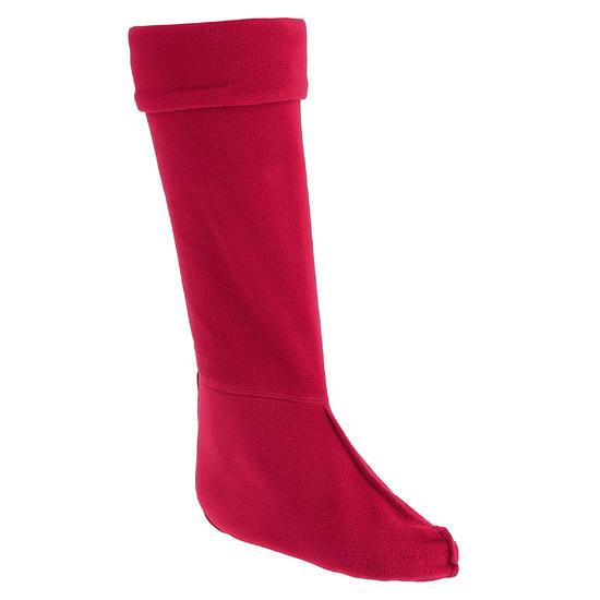 Fleece sokken voor ruiterlaarzen met randje in imitatiebont - 351219