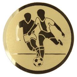 Fußball-Emblem gold
