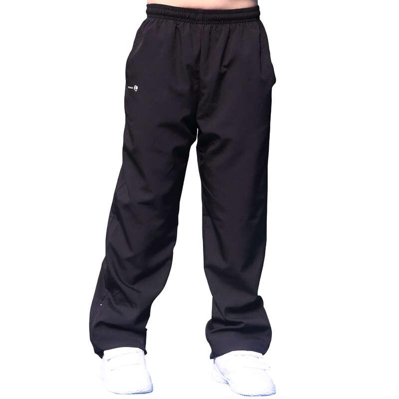 ÎMBRĂCĂMINTE SPORTURI CU RACHETA VREME RĂCOROASĂ JUNIOR - Pantalon Essentiel Negru Copii ARTENGO