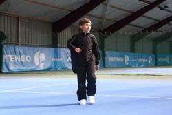 Trainingsbroek racketsporten Essential 100 kinderen zwart - 352646