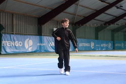 Trainingsbroek racketsporten Essential 100 kinderen zwart - 352647