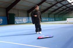 Trainingsbroek racketsporten Essential 100 kinderen zwart - 352651