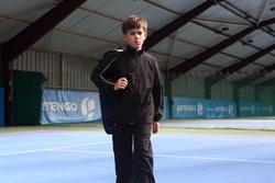 Trainingsbroek racketsporten Essential 100 kinderen zwart - 352683