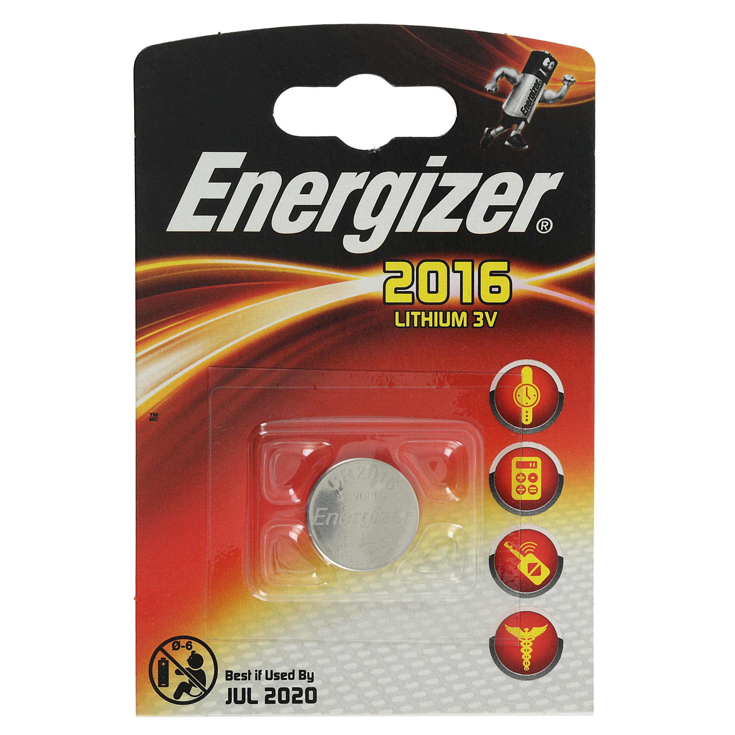 Energizer Knoopcelbatterij CR2016 1 Stuk