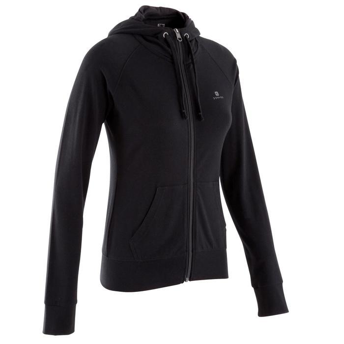 Veste capuche zippée Gym & Pilates femme - 353079