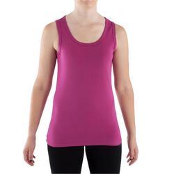 Top in biokatoen voor lichte gym en yoga dames roze