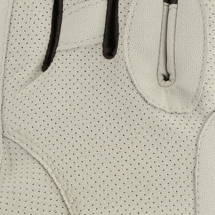 Rijhandschoenen Hexagirls voor dames ruitersport beige