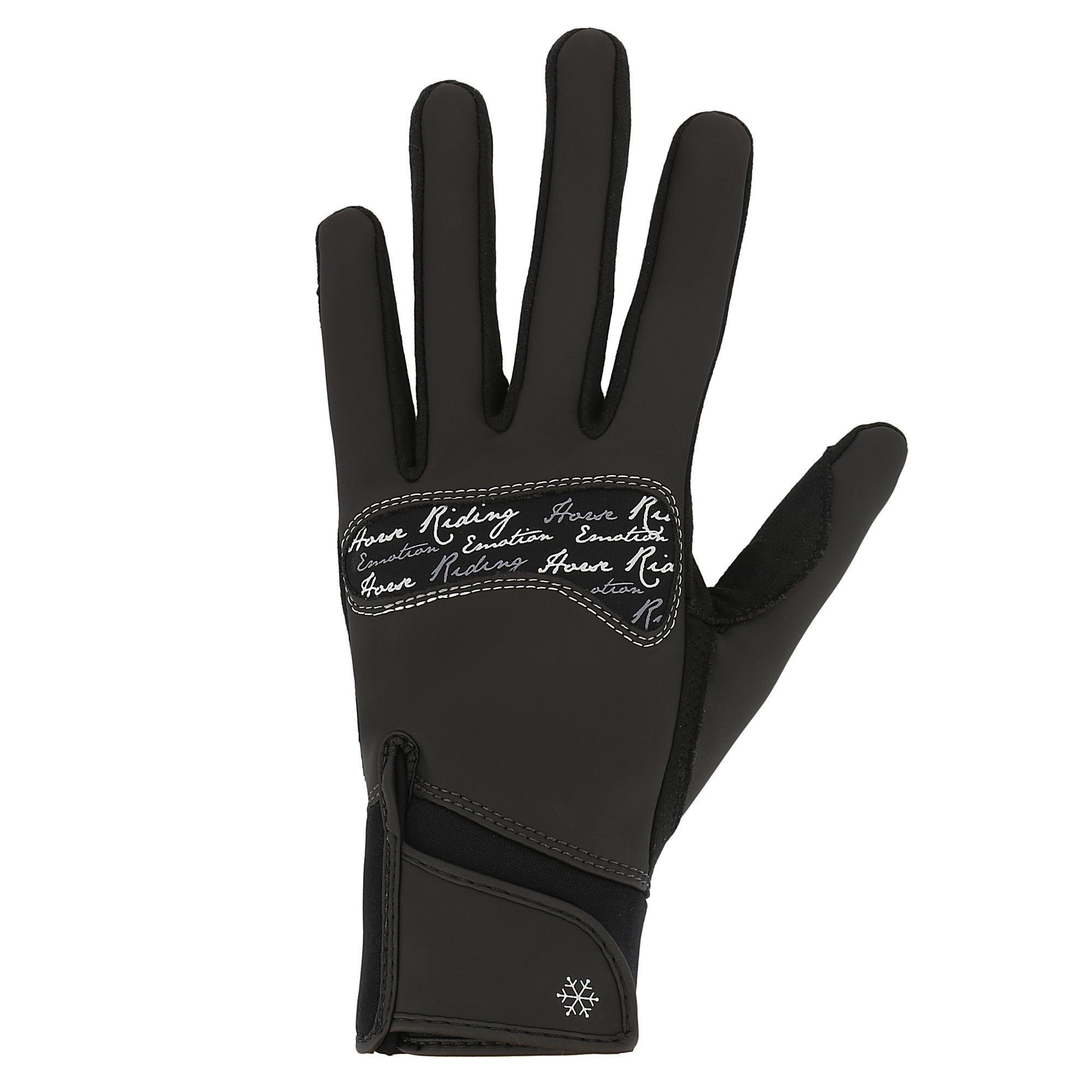Warme rijhandschoenen Kipwarm voor volwassenen zwart