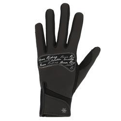 Warme rijhandschoenen voor dames Kipwarm zwart