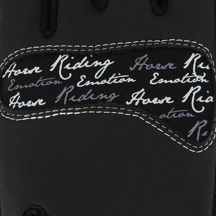 Kipwarm Adult Horse Riding Gloves - Black - 353847