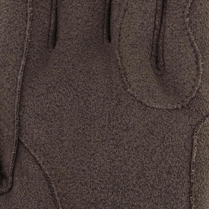 Gants chauds d'équitation femme KIPWARM marron