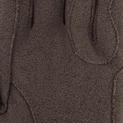 Guantes de equitación adulto KIPWARM marrón