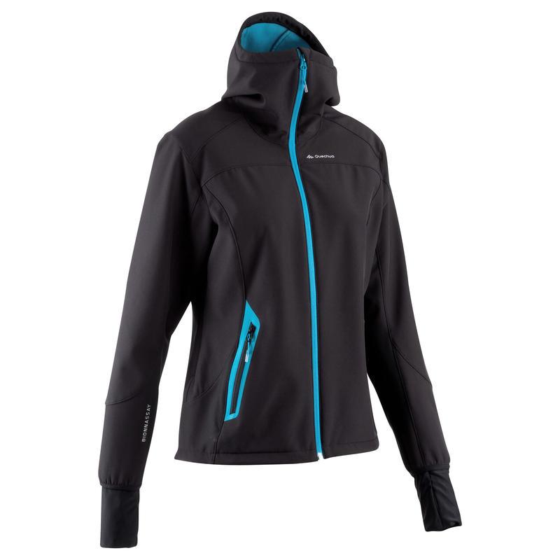 Forclaz 500 Warm Women's Hiking Softshell Jacket - Black