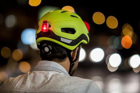 Lampu Sepeda USB Depan/Belakang LED CL 500 - Biru