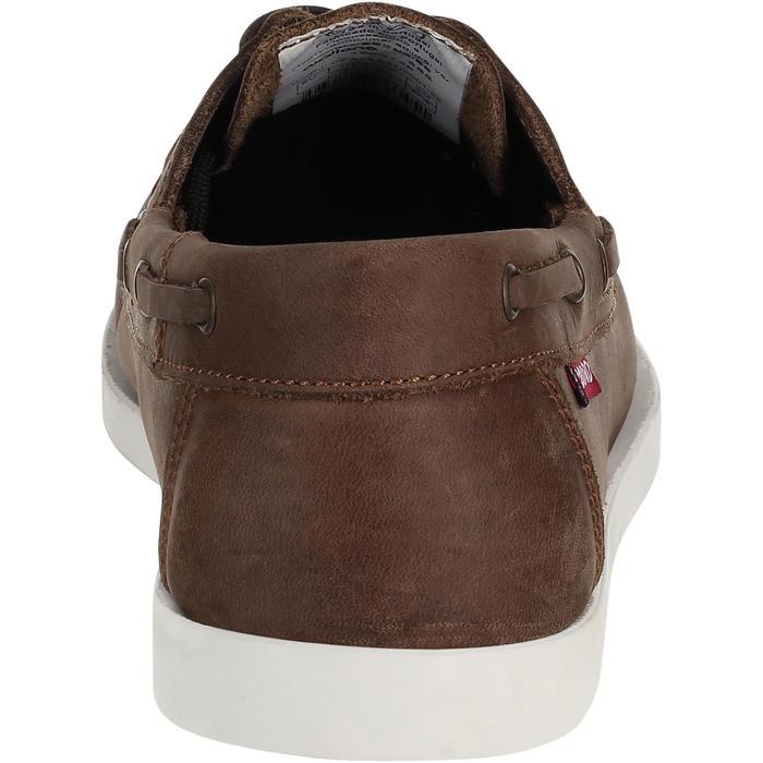 Chaussures bateau cuir enfant Cruise 500 marron - 3554
