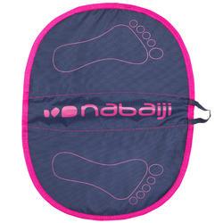 Voetmatje zwemsport Hygiene Feet blauw roze