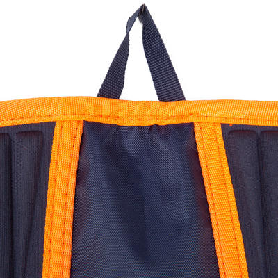 ציוד שחייה- מזרון בריכה היגייני לרגליים כחול כתום