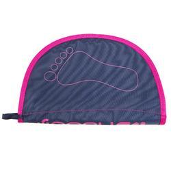 Voetenhanddoek Hygiene Feet blauw roze