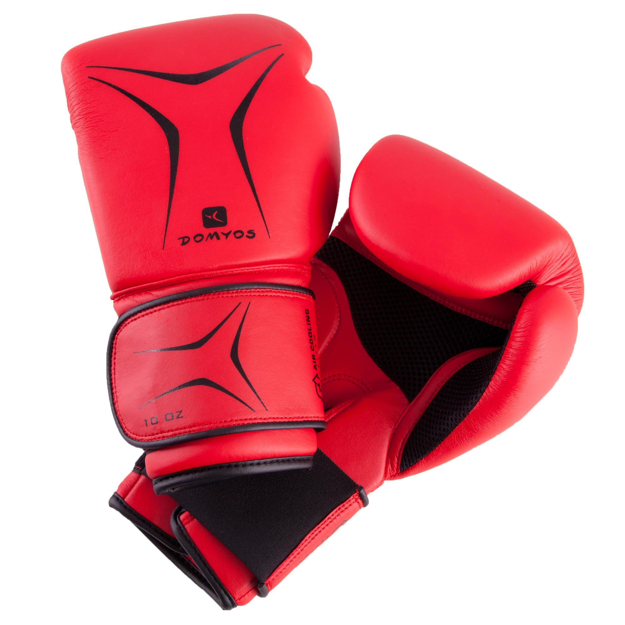 fkt 180 beginners boxing gloves red domyos by decathlon