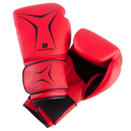 FKT 180 Beginners' Boxing Gloves - Red