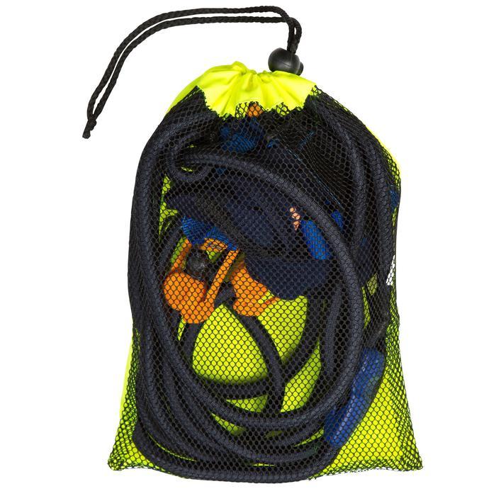 Zwemelastiek met enkelbandjes blauw geel - 356539