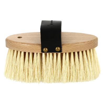 فرشاة خشبية من الشعر الطويل لتنظيف الحصان.