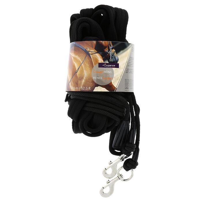 Longues rênes équitation noir - 356995