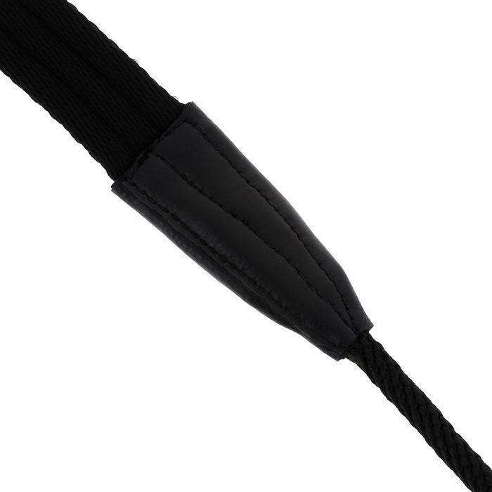 Lange teugels ruitersport zwart