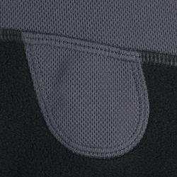 Pasamontañas de fibra polar equitación niños gris oscuro