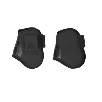 Riding Horse Riding Pony and Horse Fetlock Boots Twin-Pack - Black