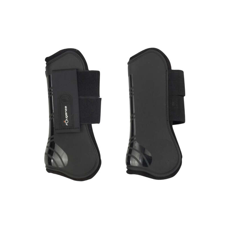HORSE RIDING LEGS/FEET PROTECTION Horse Riding - BLACK RIDING TENDON HORSE BOOTS FOUGANZA - Saddlery and Tack