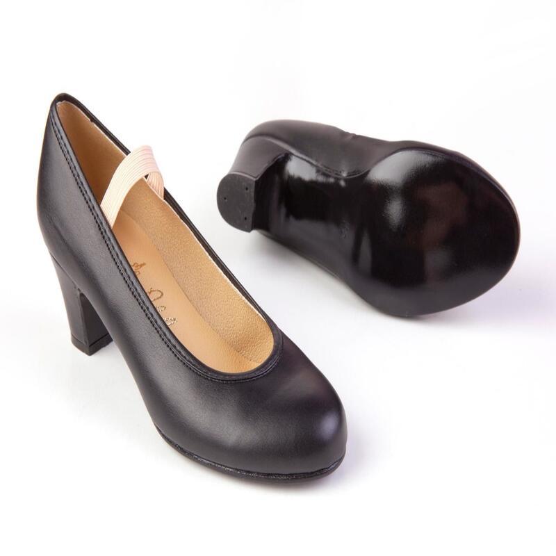 Zapatos Flamenco Yebra Mujer/Niña sin clavos negro