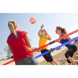 Rekbaar beachvolleybalnet The Wiz Net groen