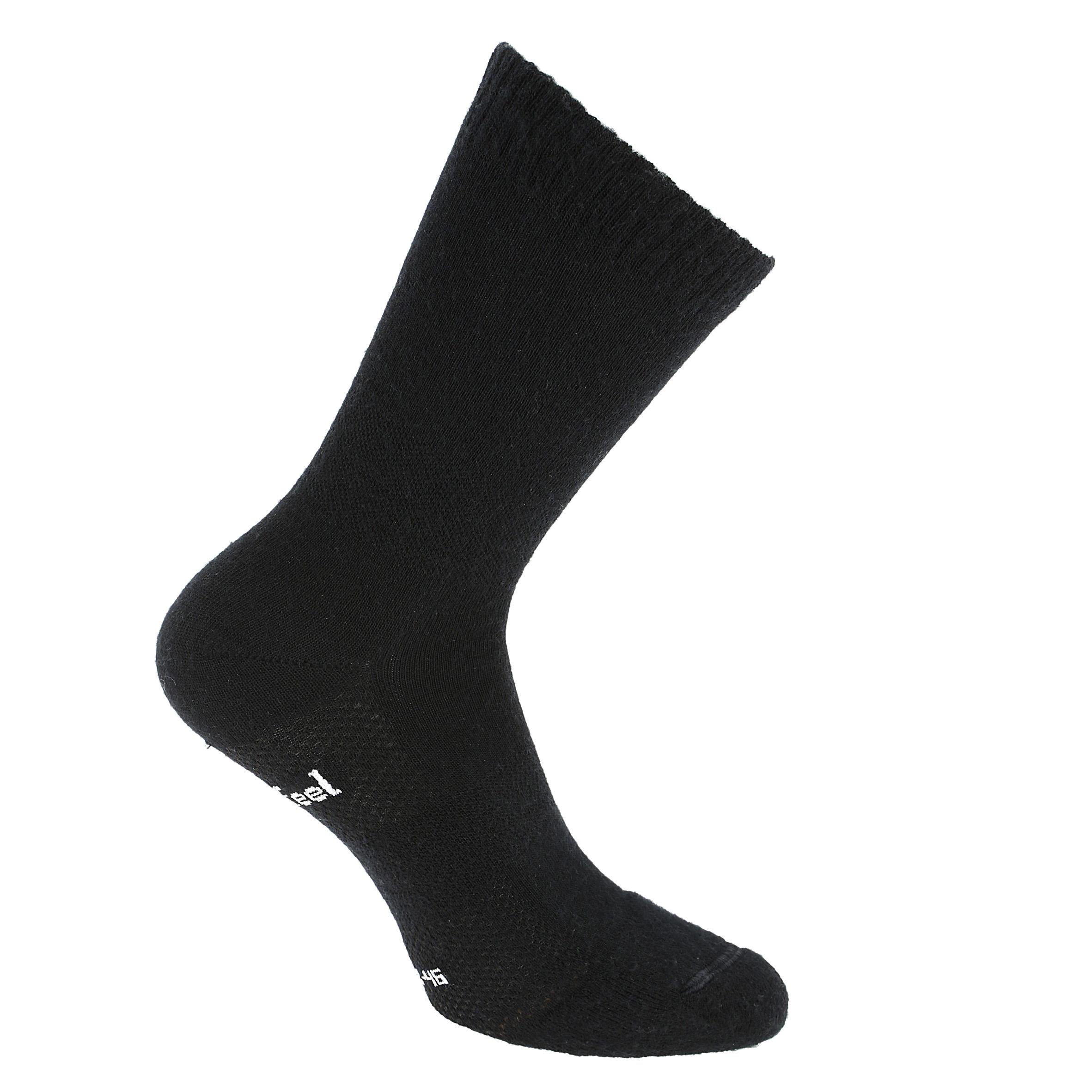 Newfeel Sokken Double 500 voor sportief wandelen wol/katoen zwart